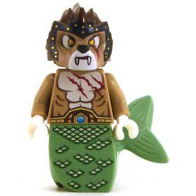 LEGO Sea Cat / Sea Lion, Dark Tan with Sand Green Tail