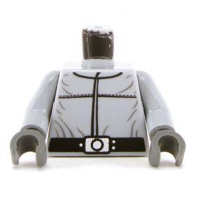 LEGO Torso, Light Bluish Gray Shirt with Wide Belt