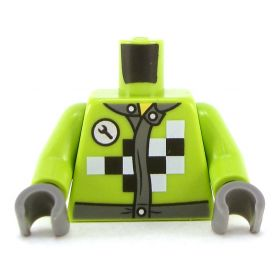 LEGO Torso, Lime with Checker Pattern