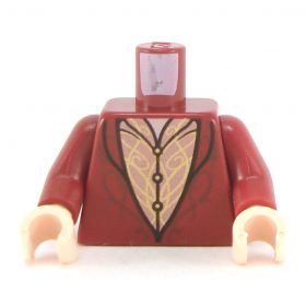 LEGO Torso, Dark Red Coat with Gold Detail