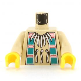 LEGO Torso, Native Necklace and Dark Turquoise Squares Pattern