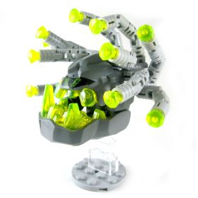 LEGO Beholder, Light Bluish Gray with Yellow Crystals