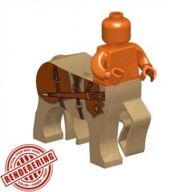 """LEGO Centaur Body, """"Courser"""", Dark Tan, by Brick Forge"""