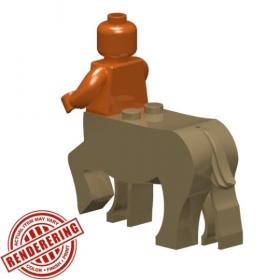 LEGO Centaur Body, Dark Tan, by Brick Forge