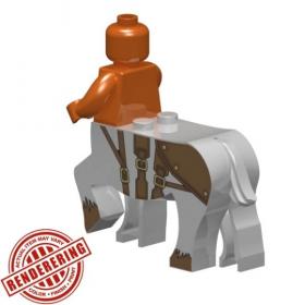 "LEGO Centaur Body, ""Lancer"", Light Bluish Gray, by Brick Forge"