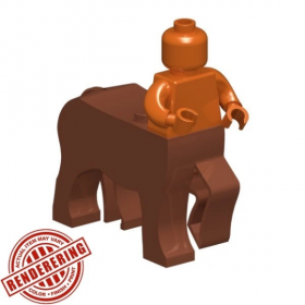 LEGO Centaur Body, Reddish Brown, by Brick Forge