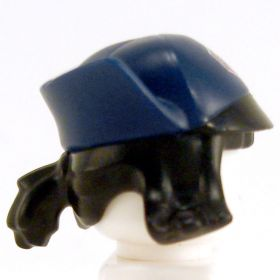 LEGO Hat, Dark Blue, Black Hair with Small Ponytail