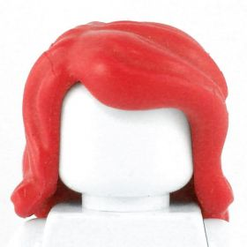 LEGO Hair, Female, Wavy and Thick, Red