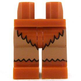 LEGO Legs, Medium Flesh with Fur Boots