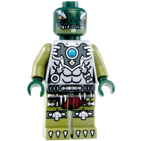 LEGO Lizardfolk King, Gray/Silver Outfit