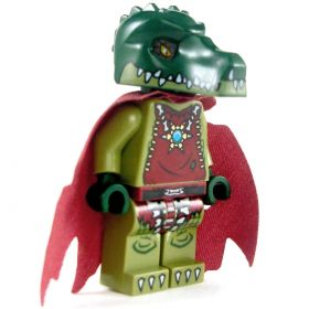 LEGO Lizardfolk Shaman / Druid (PF2 Stargazer), Tattered Cloak