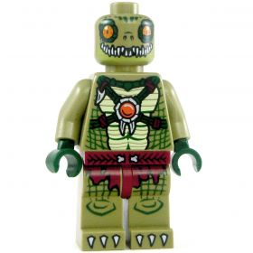LEGO Lizardfolk (Commoner or Warrior), Orange Necklace