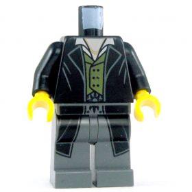 LEGO Black Overcoat, Green Vest, Dark Bluish Gray Legs