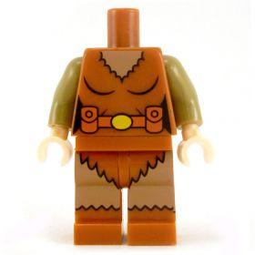 LEGO Female Outfit, Dark Orange with Dark Tan Sleeves