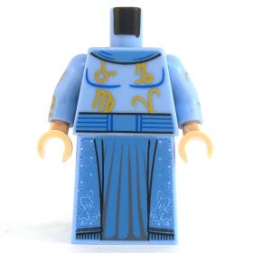LEGO Fancy Blue Robe with Gold Symbols