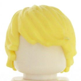 LEGO Hair, Long and Tousled with Side Part, Blonde