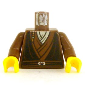 LEGO Torso, Brown Layered Shirts and Belt, Small Braid