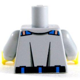 LEGO Torso, Gray Shirt with Pockets, Badge