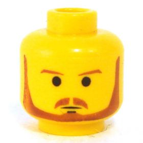 LEGO Head, Reddish Brown Trimmed Beard