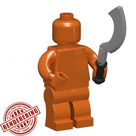 LEGO Khopesh Sword by BrickForge, Transparent Green!