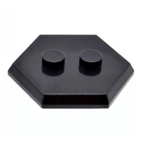 LEGO Hexagonal Minifigure Stand/Base, Black