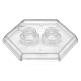 LEGO Hexagonal Minifigure Stand/Base, Transparent