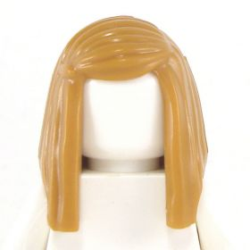 LEGO Hair, Female Long Straight with Left Side Part, Light Brown