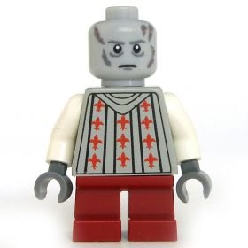 LEGO Svirfneblin, Gray and White with Red Pattern