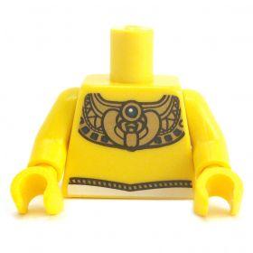 LEGO Torso, Decorative Gold Collar, Egyptian Design