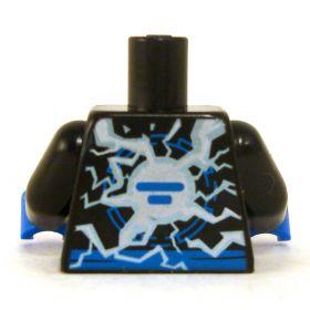 LEGO Torso, Black with Electricity Burst
