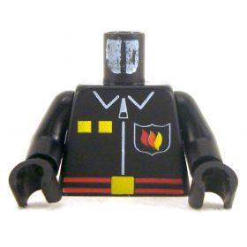 LEGO Torso, Black with Fire Emblem