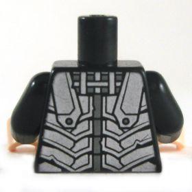 LEGO Torso, Black with Silver Armor