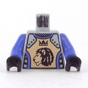 LEGO Torso, Blue-Violet Shirt, Armor with Lion and Crown