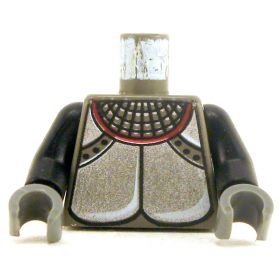 LEGO Torso, Plate Mail with Black Arms