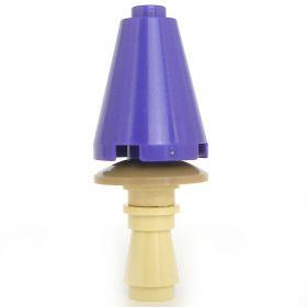 LEGO Violet Fungus, Large Cone, Dark Purple and Tan