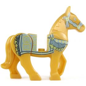 LEGO Riding Horse with Persian Blanket Print, Golden