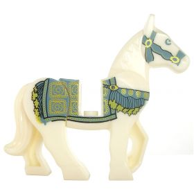 LEGO Riding Horse with Persian Blanket Print, White