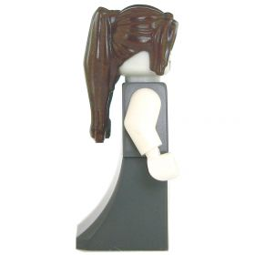 LEGO Vampire Spawn, Female, Gray Dress, Dark Brown Hair