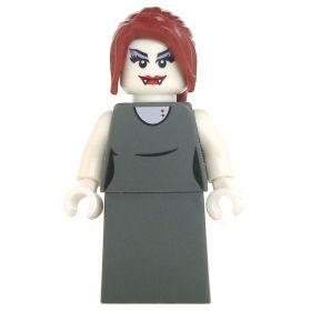 LEGO Vampire Spawn, Female, Gray Dress, Dark Red Hair