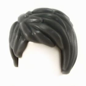 LEGO Hair, Female, Short and Tousled, Side Part, Black