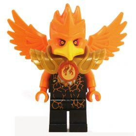LEGO Aarakocra - Black with Orange Wings and Head