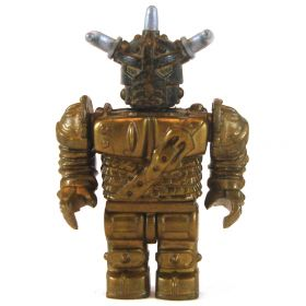 LEGO Animated Armor, Short and Square, Brass with Silver Horns