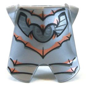 LEGO Breastplate with Leg Protection, Silver Pattern with Copper Bat Pattern