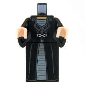 LEGO Black Dress with Silver Clasp, Flared Sleeves