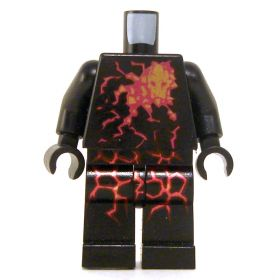 LEGO Black Outfit with Crackling Energy Design