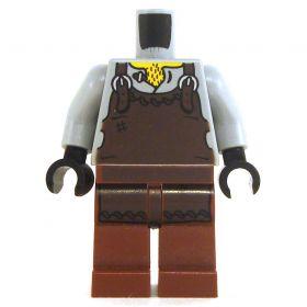 LEGO Gray Shirt and Brown Pants, Brown Leather Apron (Blacksmith)