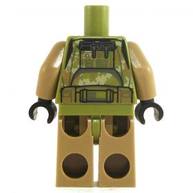 LEGO Complete Outfit with Light Brown and Olive Green Camouflage