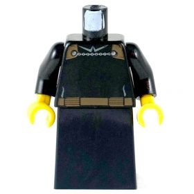 LEGO Black Robes, Brown Belt, Chain Clasp for Cloak