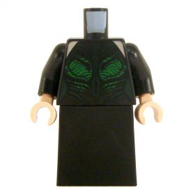 LEGO Black Dress with Green Patterns