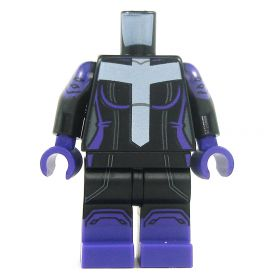 LEGO Black Outfit with White Cross/T, Purple Boots